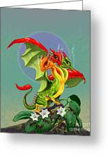 Peppers Dragon Greeting Card