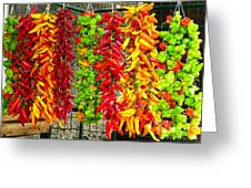 Peppers For Sale Greeting Card