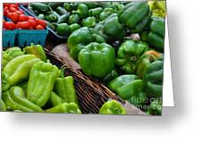 Peppers From The Farm Nj Greeting Card