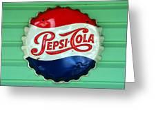 Pepsi Cap Greeting Card by David Lee Thompson