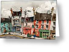 Perambulating In Ennistymon  Clare Greeting Card
