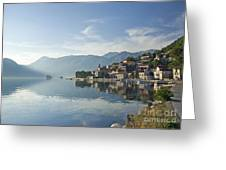 Perast Village In The Bay Of Kotor In Montenegro  Greeting Card