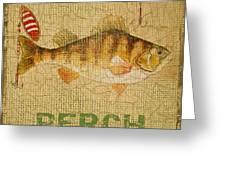 Perch On Burlap Greeting Card