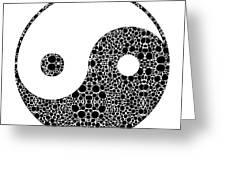 Perfect Balance 1 - Yin And Yang Stone Rock'd Art By Sharon Cummings Greeting Card