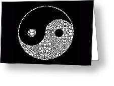 Perfect Balance 2 - Yin And Yang Stone Rock'd Art By Sharon Cummings Greeting Card