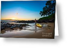 Perfect Ending - Beautiful And Secluded Secret Beach In Maui Greeting Card