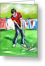 Ideal Gift For Golfing Husband Greeting Card