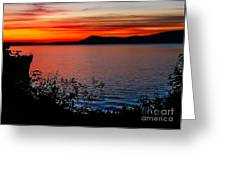 Perfect Marine Sunset Greeting Card