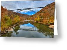 Perfect Reflections Of The New River Gorge Bridge Greeting Card