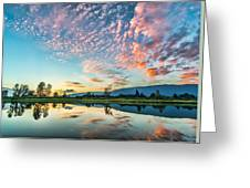Perfect Sunset Clouds Greeting Card