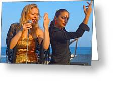 Performing By The Sea Greeting Card
