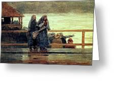 Perils Of The Sea 1881 Greeting Card