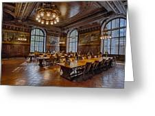 Periodical Room At The New York Public Library Greeting Card