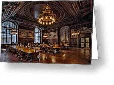 Periodicals Room New York Public Library Greeting Card