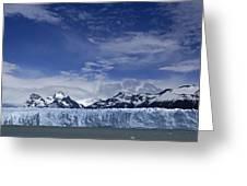 Perito Moreno Glacier And The Andes Greeting Card