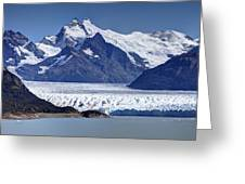 Perito Moreno Glacier - Snow Top Mountains Greeting Card