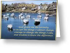 Perkins Cove Serenity Greeting Card