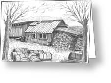 Perkins Maple Sugar House Greeting Card