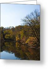 Perkiomen Creek In Autumn Greeting Card