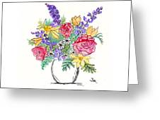 Perky Spring Flowers Greeting Card