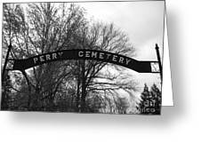 Perry Cemetery Greeting Card