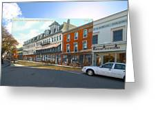 Perry House At Washington Square In Newport Rhode Island Greeting Card