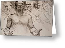 Persecution Sketch Greeting Card
