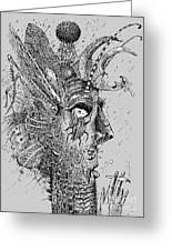 Person Insect. Smoker. Surrealistic Greeting Card