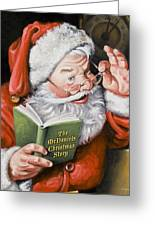 Personalized Santa Painting....instructions Are On Lower Right Side Of This Page. Greeting Card