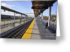 Perspective From The Series The Elements And Principles Of Art-- One Point Rail Greeting Card
