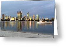 Perth By Sunset  Greeting Card