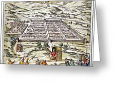 Peru: Cuzco, 1572 Greeting Card