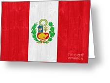 Peru Flag Greeting Card