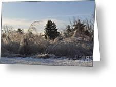 Peru Massachusetts Ice Greeting Card