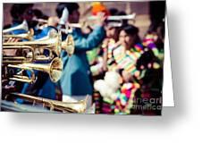 Peruvian Dancers At The Parade In Cusco Greeting Card