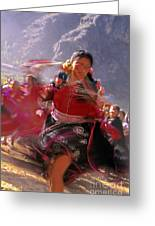 Peruvian Festival Sacred Valley Greeting Card