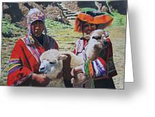 Peruvians Greeting Card