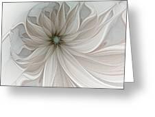 Petal Soft White Greeting Card