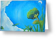 Petals Drifting Greeting Card