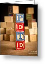 Pete - Alphabet Blocks Greeting Card