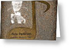 Pete Pedersen Note Greeting Card