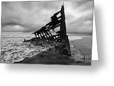 Peter Iredale Shipwreck Oregon 1 Greeting Card