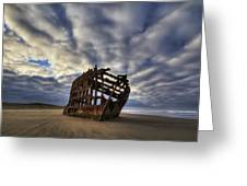Peter Iredale Shipwreck Sunrise Greeting Card