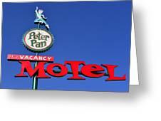 Peter Pan Motel Greeting Card