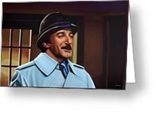Peter Sellers As Inspector Clouseau  Greeting Card by Paul Meijering