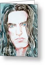 Peter Steele Watercolor Portrait Greeting Card