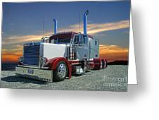 Peterbilt At The Beach  Greeting Card