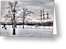 Peterburg Winter Greeting Card