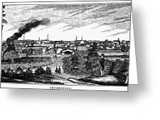 Petersburg, Virginia, 1856 Greeting Card