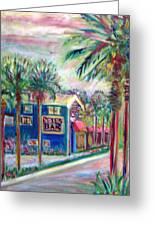 Pete's Bar In Neptune Beach Greeting Card